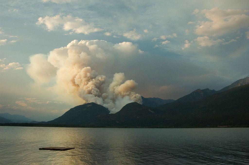 Hamill Creek Fire  July 29, 2007  (8:48 PM)