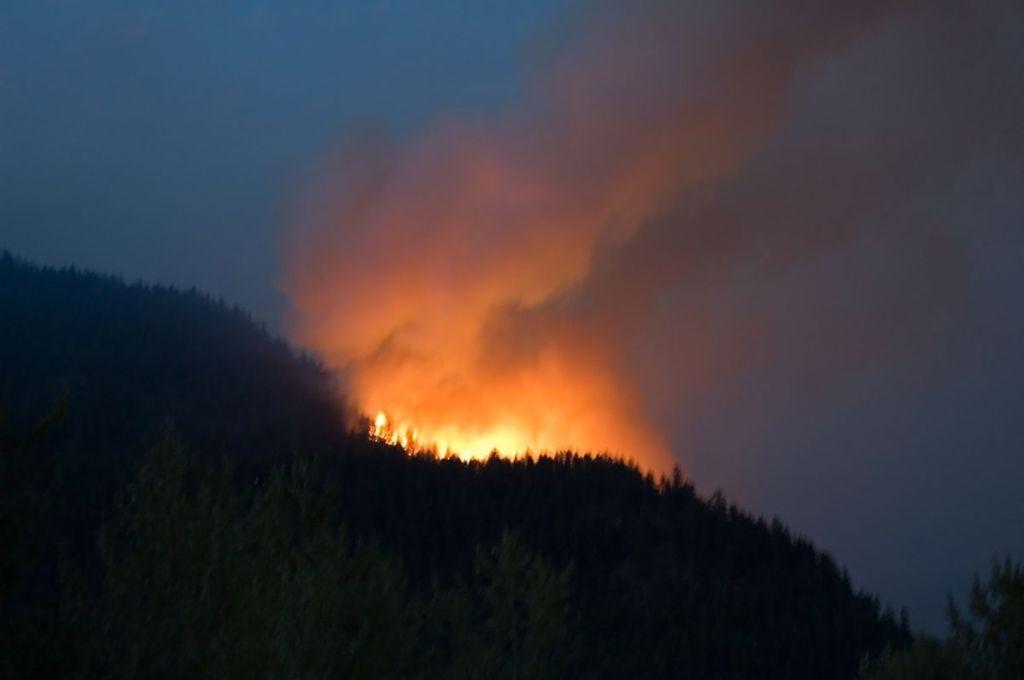 Hamill Creek Fire  July 30, 2007  (10:15 PM)